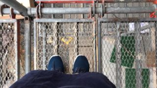 上棟式の日に登らせてもらった足場